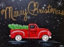 Christmas Tree Truck Painting